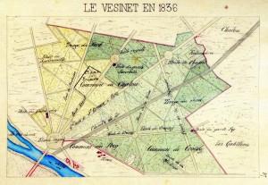 Plan du Vésinet (1836)